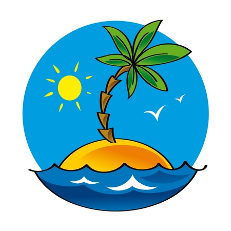 lonelyness: Uninhabited Island nature sea ocean palm sun lonelyness alone