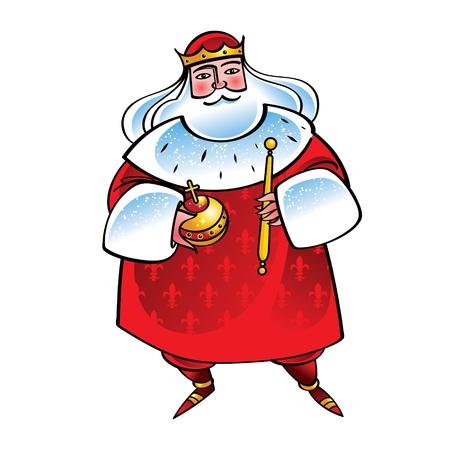 tiran: Koning monarch majesteit Stock Illustratie
