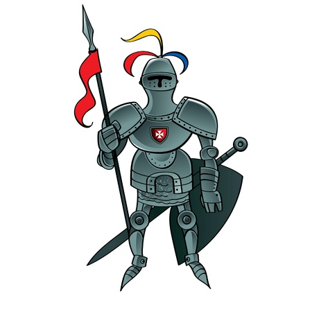 Knight Warrior soldier servant army security safety defender Vector