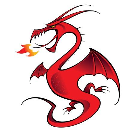 Red Dragon mythology legend beast tale fantasy animal
