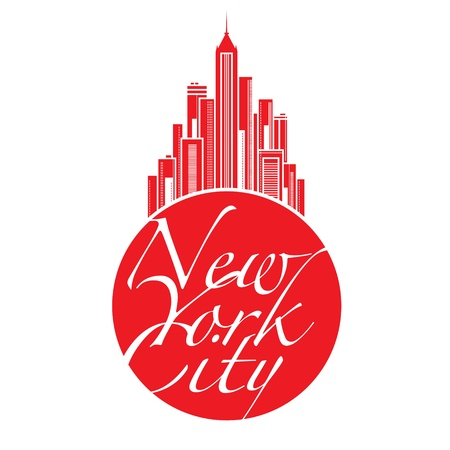 World famous landmark - New York City Big Apple Illustration