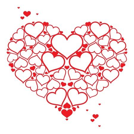 Love symbol red Heart design decorative element Valentines day postcard Stock Vector - 11915402