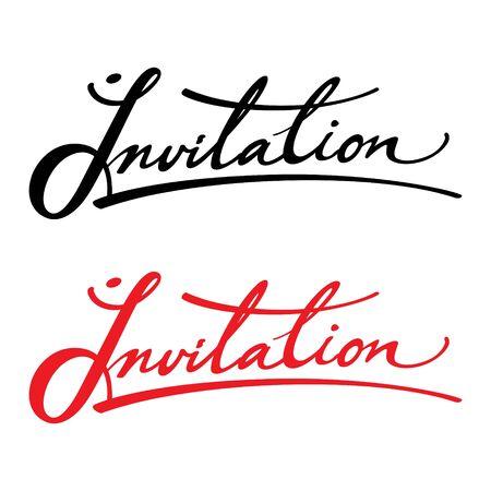 Invitation vector inscription holiday event birthday wedding venue date card Stock Vector - 11915401