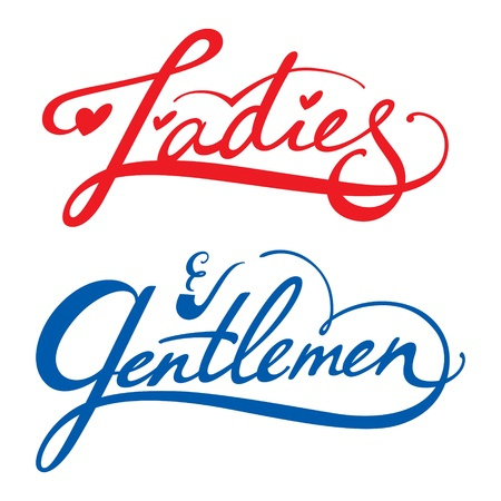 ванная комната: Дамы господа вектор надпись мужчина женщина гардеробная комната отдыха туалете Иллюстрация