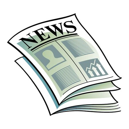 current events: vector illustration Newspaper daily media information headline