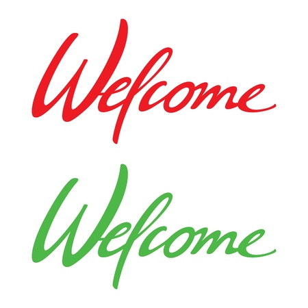 welcome home: Welcome vector inscription holiday event birthday wedding venue date card