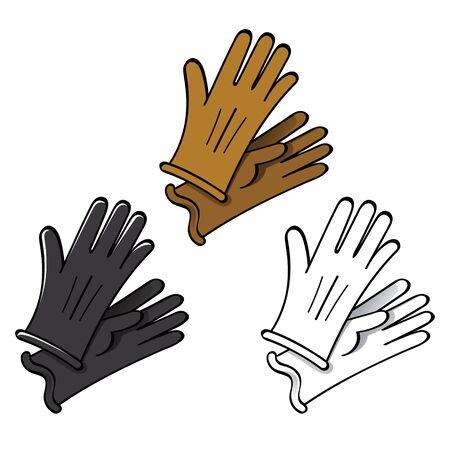 suede: Gloves leather fashion skin suede finger hand wear Illustration