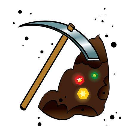 kopalni: Treasure kopalnia ziemia kopać diamenty genialny kamień pock odebrać