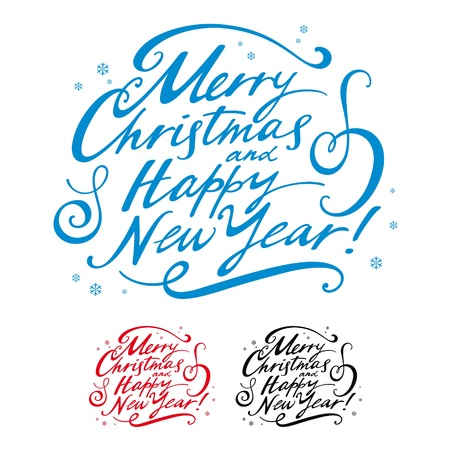 Merry Christmas Happy New Year winter holidays postcard Stock Vector - 11966839
