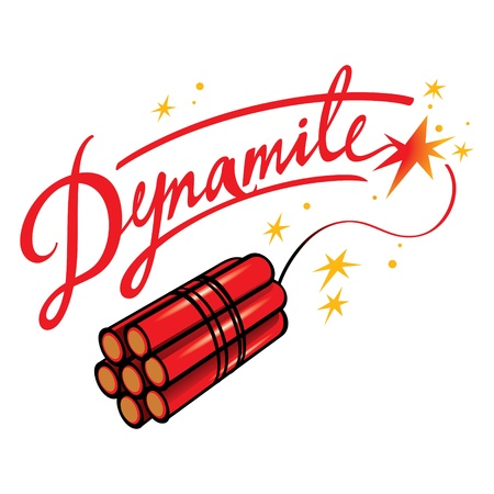 Dynamite bomb explosive blow terror fire sparks Stock Vector - 12832736
