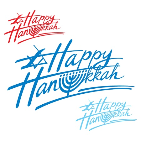 Happy Hanukkah religion Israel holiday menorah judaism Vector