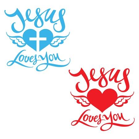 j�sus croix: J�sus vous aime religion coeur que Dieu b�nisse le Seigneur l'aile