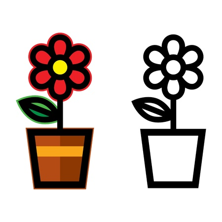 haus garten: Flower Pot Flora Pflanze im heimischen Garten dekorativ