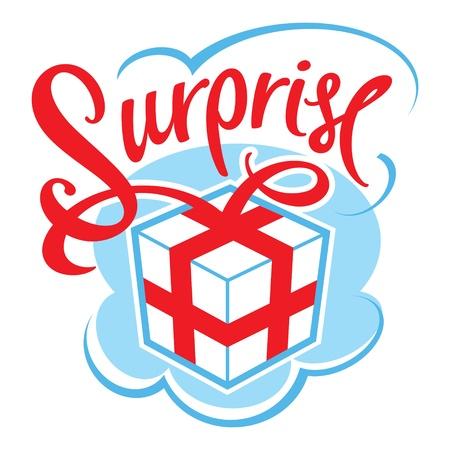 enten: Gift box verrassing voor de verjaardag, viering, gebeurtenis, Kerstmis, huwelijk Stock Illustratie