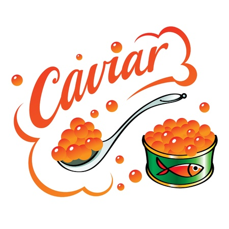 delicacy: Caviar red fish food delicacy can food spoon
