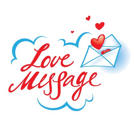 confession: Love Message confession paper envelope red heart Illustration