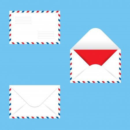 Paper Envelope mail message post postcard letter closed open Vector