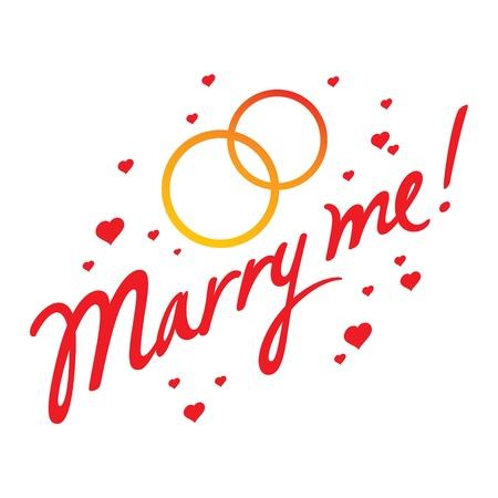 marido y mujer: Marry Me boda concepto matrimonio por amor, novia, novio marido esposa anillo de coraz�n de oro