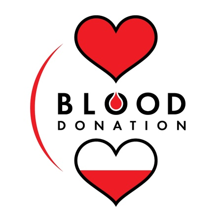donations: Blood donation medicine help hospital save life heart Illustration
