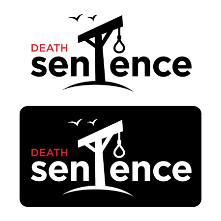 suffocate: Death sentence crime court gallows rope loop hangman