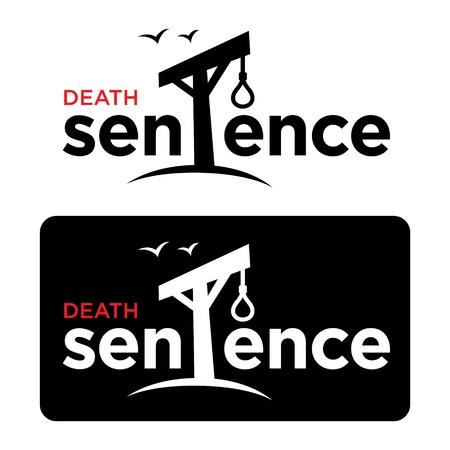 ahorcado: Sentencia de muerte delito tribunal horca cuerda lazo verdugo