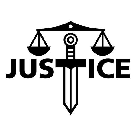 Peso Justicia espada verdad tribunal de justicia juez Ilustración de vector