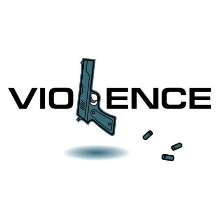 gunfire: Violence crime killing gun weapon bullets pistol