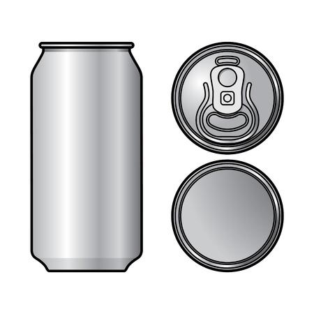 Aluminium Can bière conteneur verre de boisson de l'eau Banque d'images - 20282062