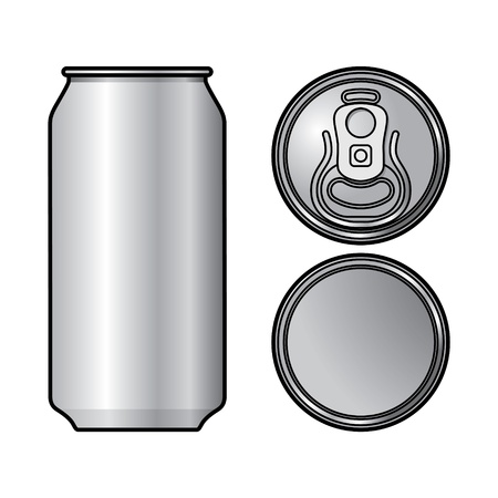 Aluminium Can container beer water beverage drink Vector