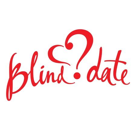 affair: Blind Date love affair secret surprise heart concept Illustration
