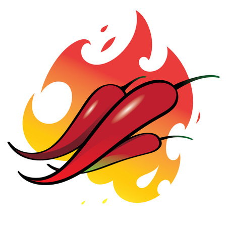 capsaicin: Red Peppers - hot and spicy food