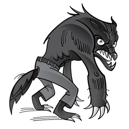 horrible: Werewolf - scary horrible ghoul in pants