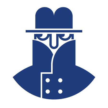 Spy image - hiding secret private detective Иллюстрация