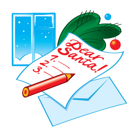 Letter to Santa - list of Christmas wishes