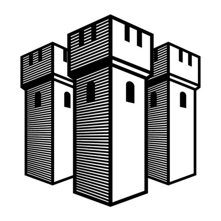castle: Old castle - ancient temple, stone walls, towers