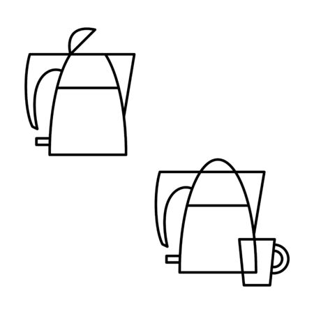 Electric kettle icon isolated on white background