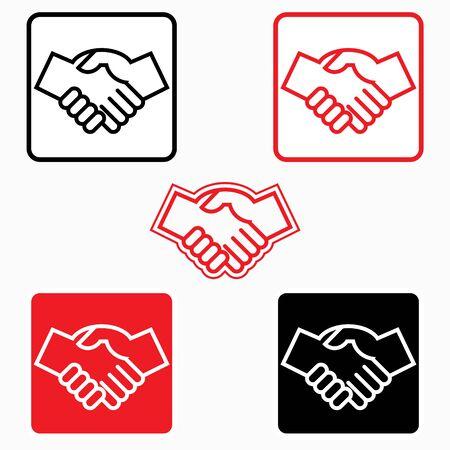 Handshake icon - illustration, graphic element Иллюстрация