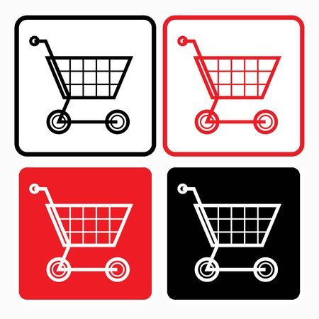 commercial sign: Shopping trolley icon - graphic design element, sign Illustration