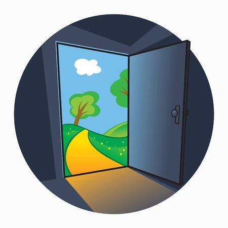 The door into summer - view through the open door