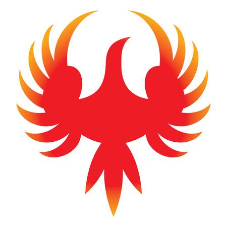 Phoenix - icon of legendary bird from Greek mythology Иллюстрация