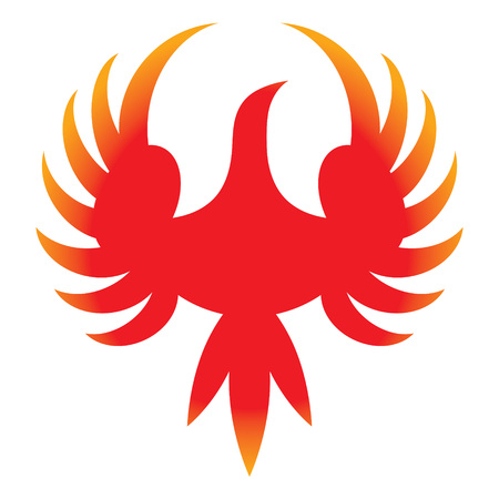 Phoenix - icon of legendary bird from Greek mythology Illustration