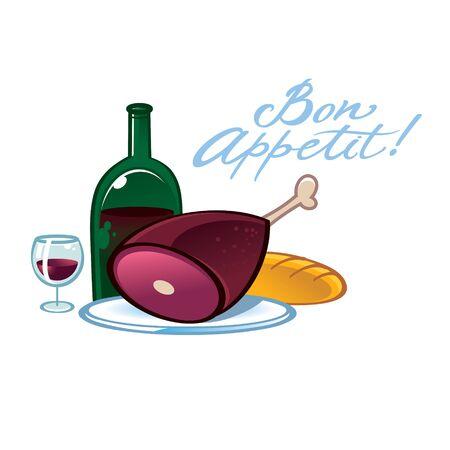 Bon Appetit - food and drinks still life