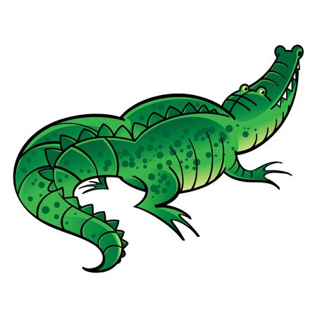 Green crocodile - wild animal, reptile, predator