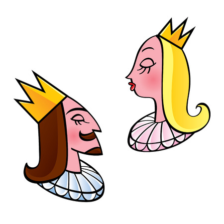 crowned: King and queen - crowned royal couple
