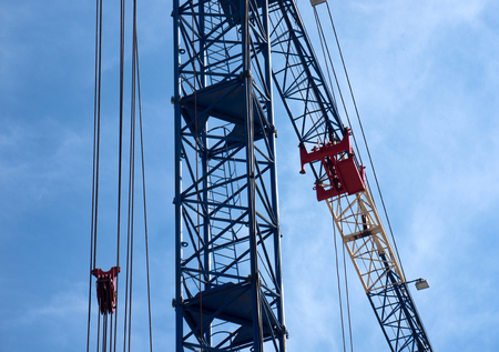 immobility: Close-up of onstruction crane on building site