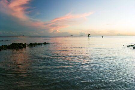 Sunrise on Pemuteran beach, Bali island, Indonesia