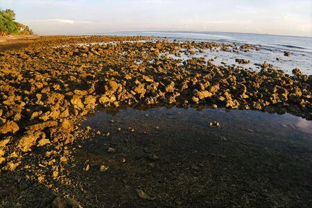 seacoast: Sunrise on Pemuteran beach, Bali island, Indonesia