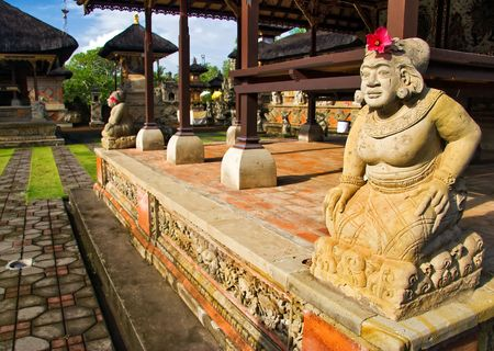 Traditional architecture of temples of Bali