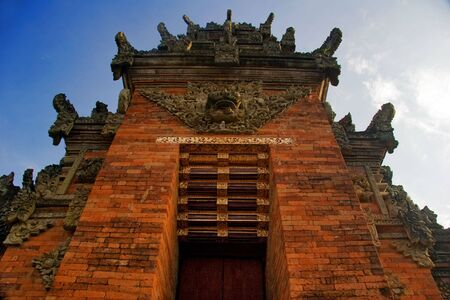 Traditional architecture of temples of Bali photo