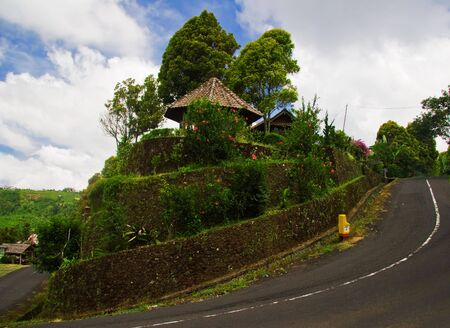 Roads in center of Bali photo